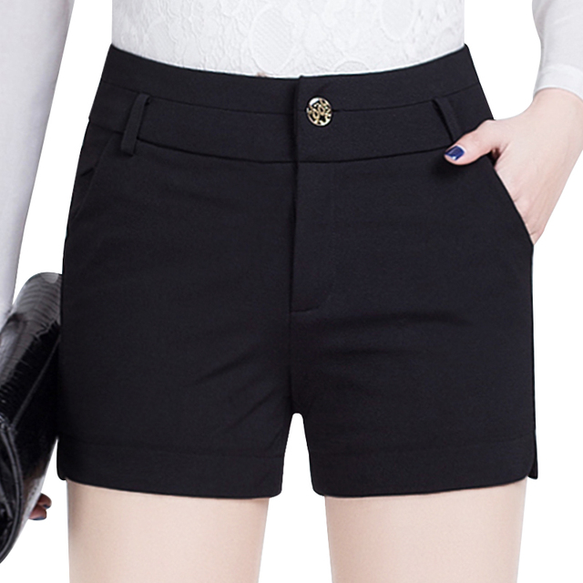 S-5XL 2017 new summer Fashion casual plus size brand black female women girls shorts clothing clothes
