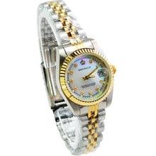 Aleación de Oro de la Marca de moda de Lujo Casual Femenino Reloj de Diamantes Mujer Rhinestone Señora calendario Resistente Al Agua reloj de pulsera relogios