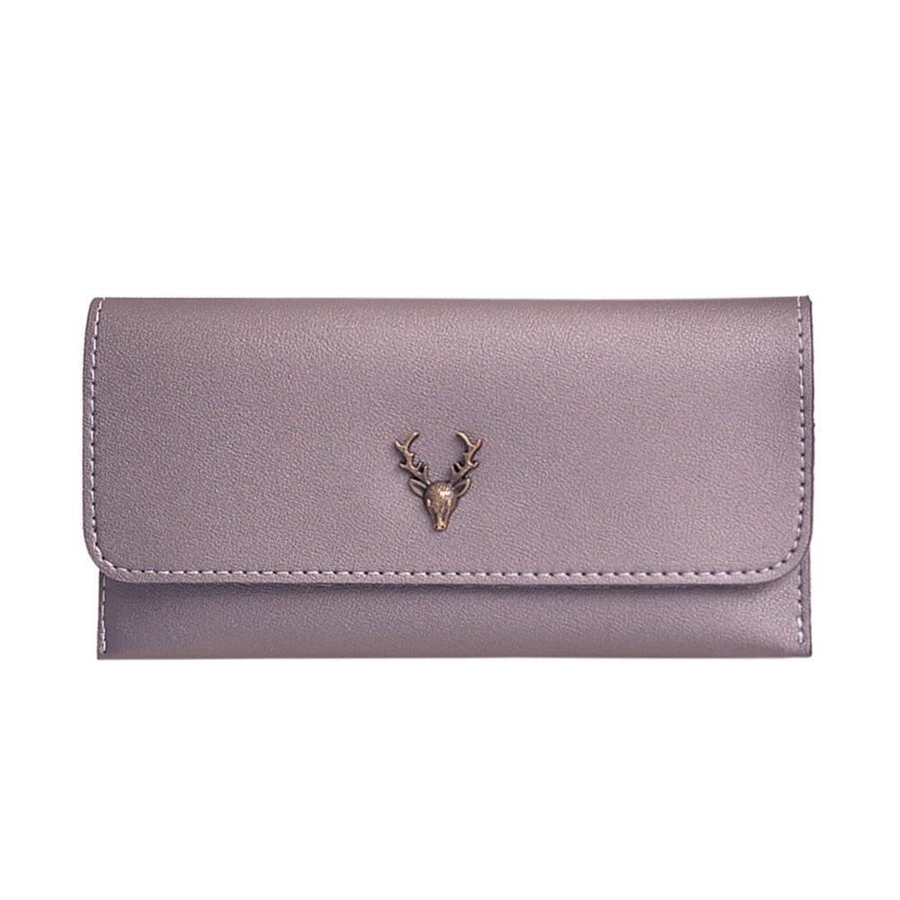 Для женщин Сплошной клатч кошелек HASP деньги Изменить Портмоне визитница ежедневно сумка Конверт Сумочка оленей порте Монне Femme