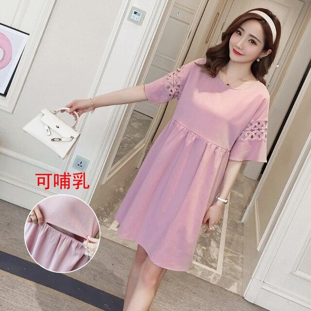 bd5dc503f2106 9903# Summer Fashion Nursing Dress for Maternity Women Breastfeeding Clothes  for Pregnant Women Pregnancy Feeding Wear