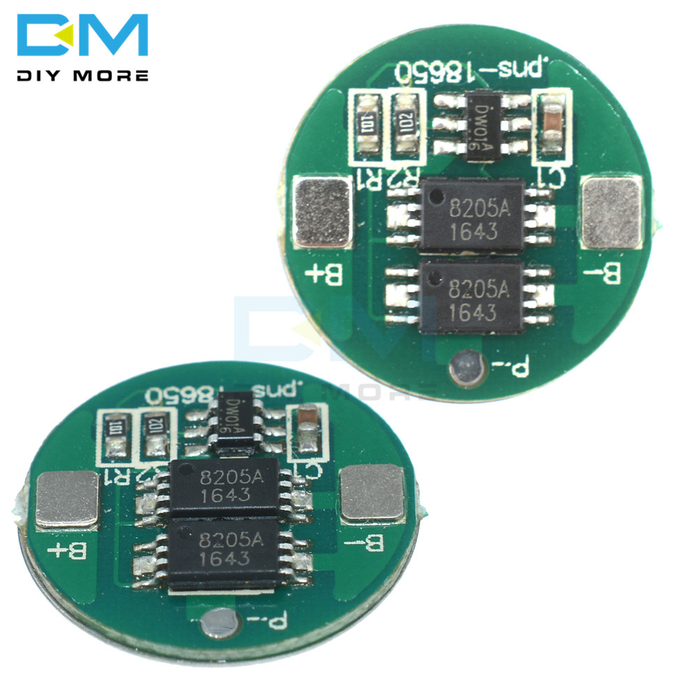 5PCS Dual MOS Battery Protection 18650 Lithium Li-ion Battery High Voltage Detection Circuit Module Board Overcurrent Detection