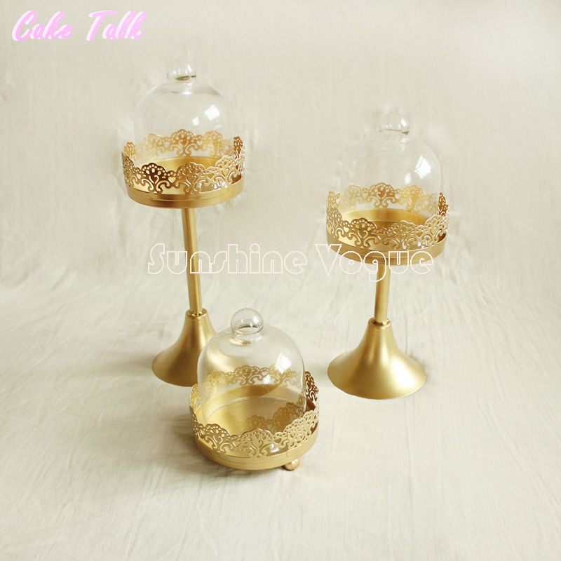 Aliexpress Com Buy Glass Dome Single Cupcake Mini Gold