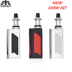 Hot vender! Kit caixa de 100 W mod enorme vapor 2200 mah bulit-na bateria LED Tela Fumaça Vaper Cigarro Eletrônico