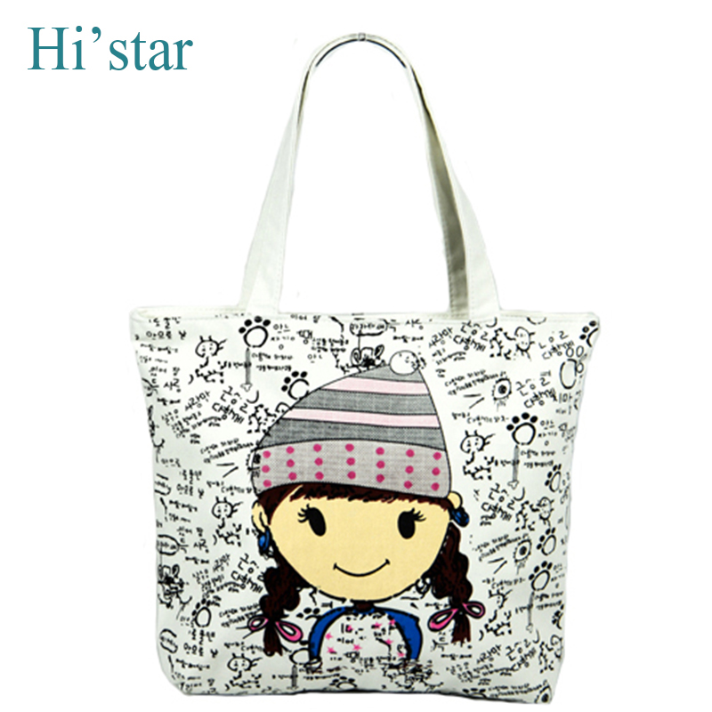 2016 HOT SALE canvas tote bag Flower printing design ladies handbag with small  pouch Women Fashion shoulder bag Free shipping-in Top-Handle Bags from ... 6f8ac461685a8