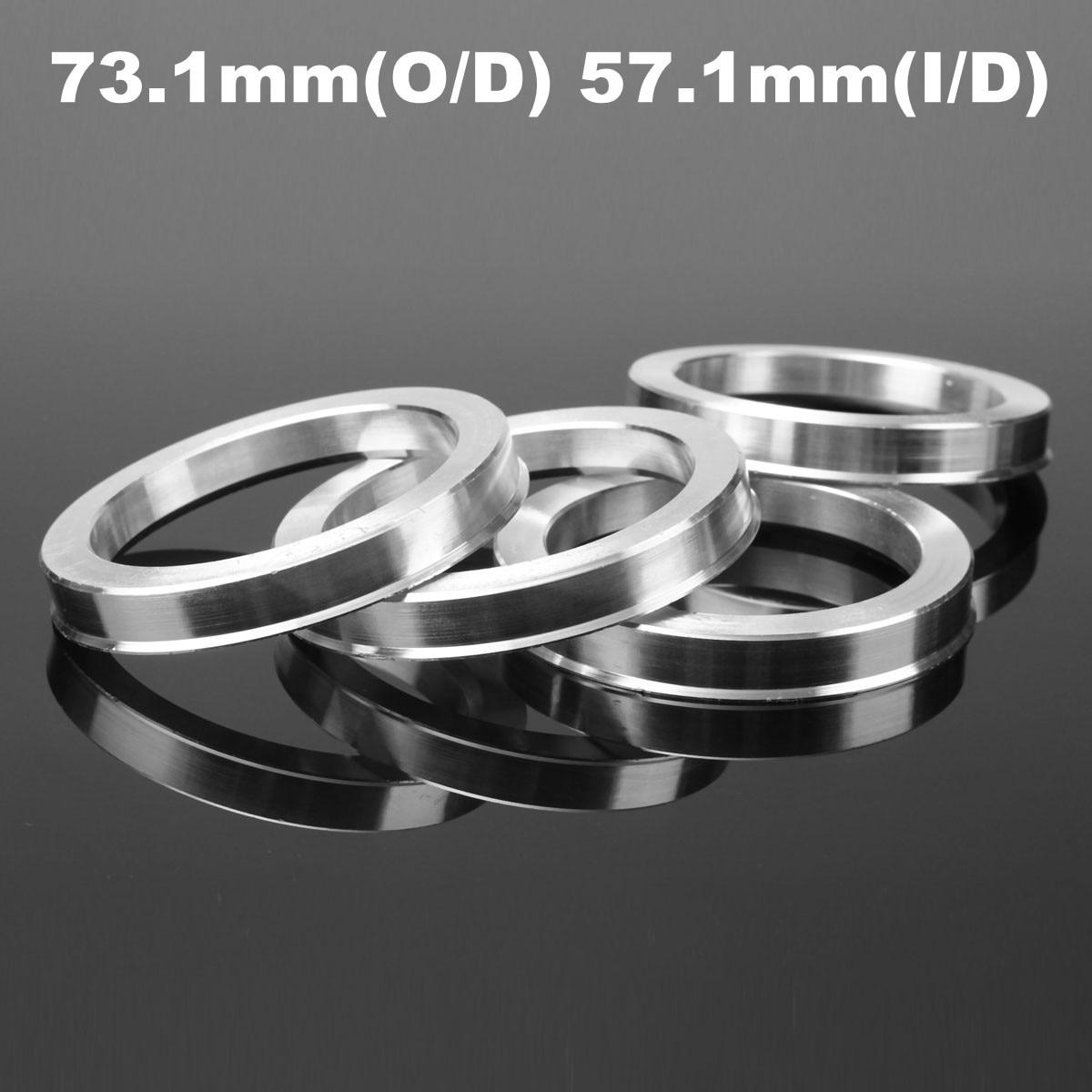 4 Pcs 73.1mm-57.1mm Universal Aluminum Hub Centric Ring Wheel Spacer Set 73.1mm O/D 57.1mm I/D4 Pcs 73.1mm-57.1mm Universal Aluminum Hub Centric Ring Wheel Spacer Set 73.1mm O/D 57.1mm I/D