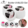 Saviland 1Pcs Extension Gel Pink White Clear Color UV Builder Gel Acrylic for French Nail Art False Tips Gel Lacquer