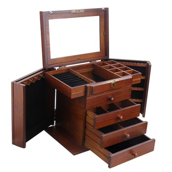 Large Wooden Storage Box With Lock