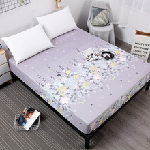 Printing All-round Waterproof Bed Sheet With Elastic Band Comfortable Mattress Protector For Bed Wetting Anti-mite