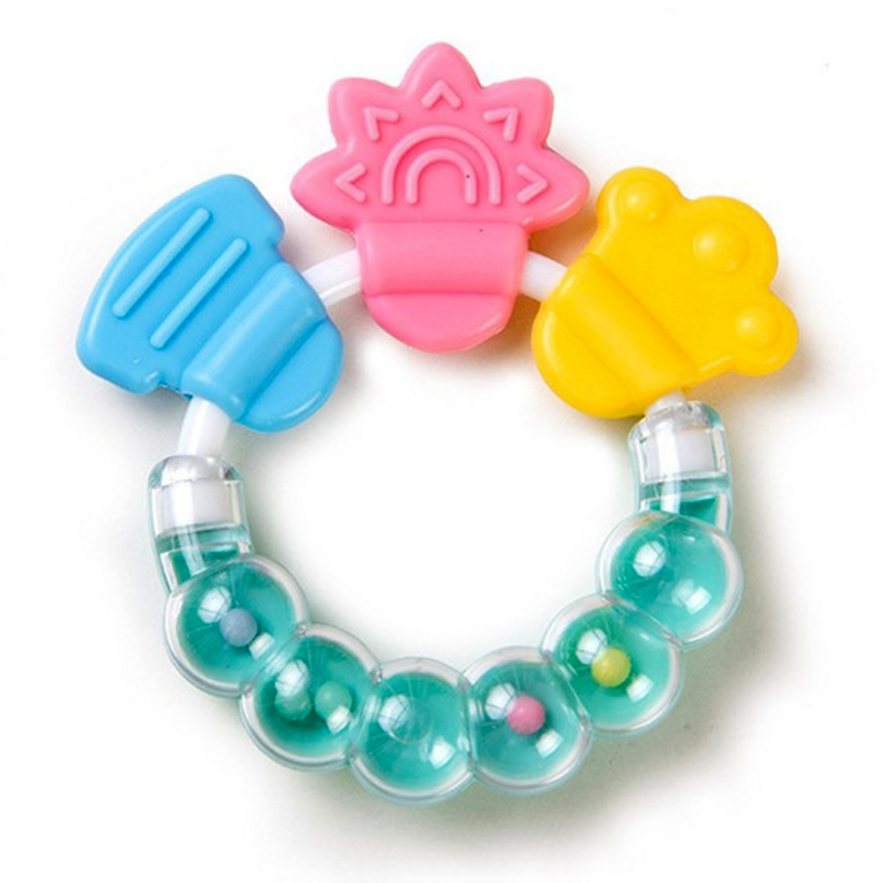 Cartoon Baby Baby Teether Educational Toys Teeth Biting For Babies Baby Rattle Toy For Bed Bell Silicone Handbell Jingle