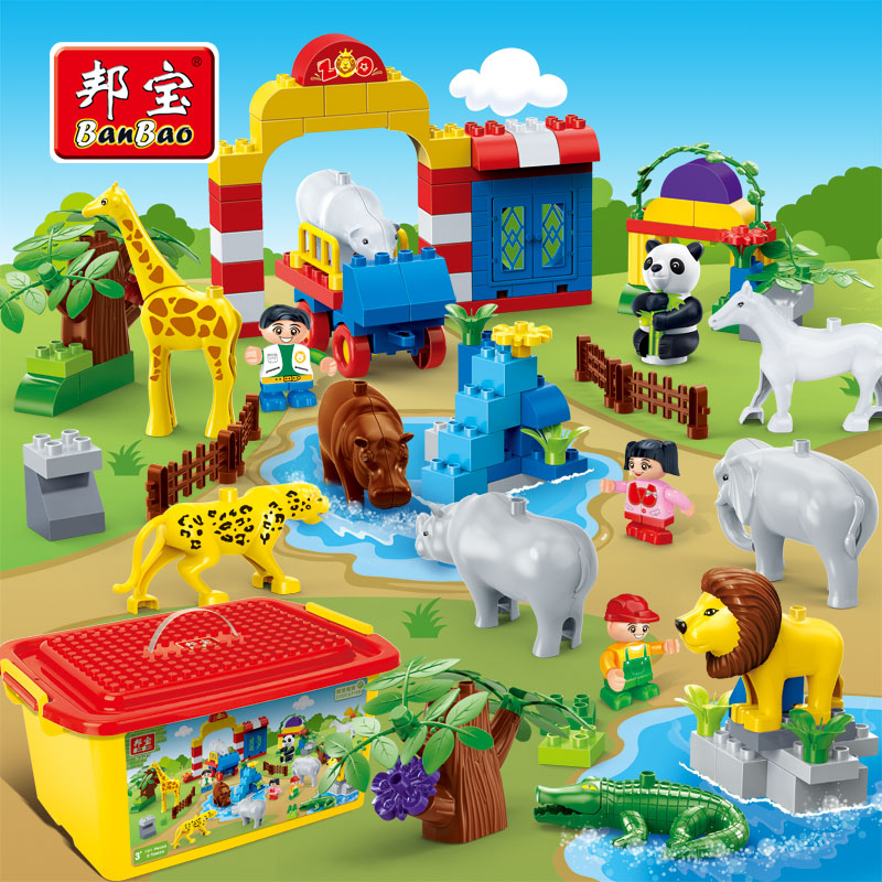 Banbao Animal Zoo Large Particles Bricks Educational