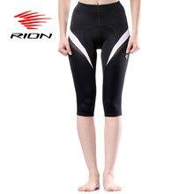 RION femmes cyclisme Shorts printemps descente vtt montagne vélo Shorts Gel rembourré 3/4 Long vélo Shorts culotte ciclismo