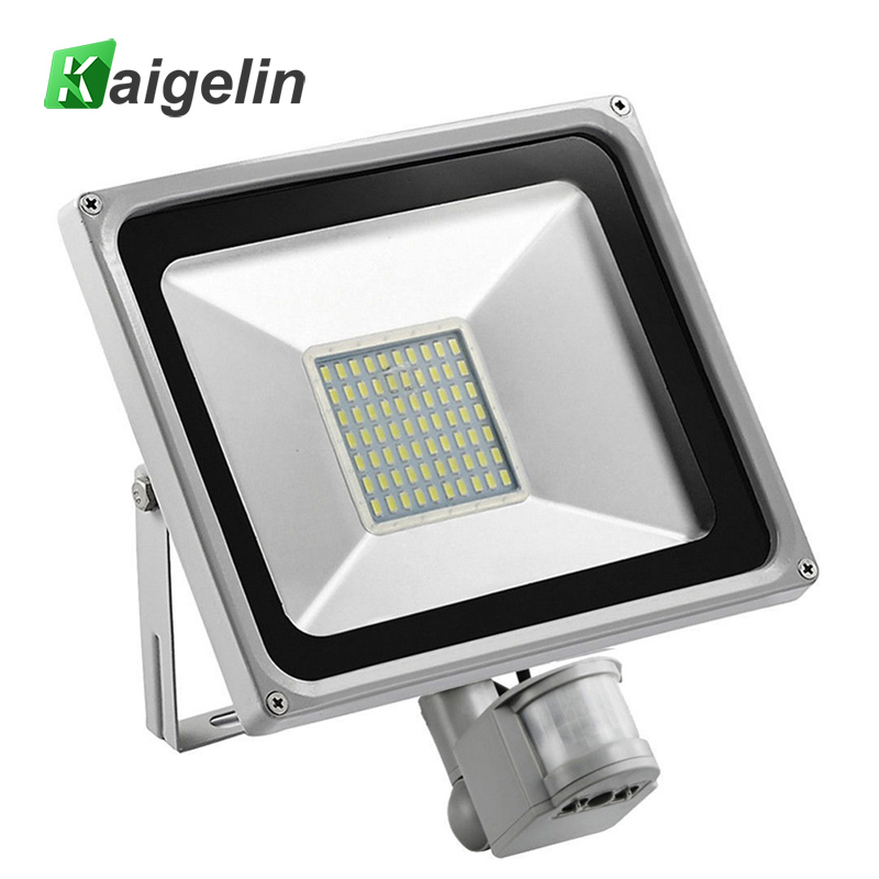 50W PIR Sensor de movimiento infrarrojo Luz de inundación 220V-240V SMD 2835 5500LM Sensor PIR LED Reflector Lámpara LED para iluminación exterior