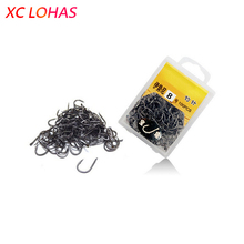 70-100 Pcs / Box Multiple Sizes High Carbon Steel Fishing Hook Needles Barbed Fishing Hook 1# – 13# Fishing Tackle Accessories