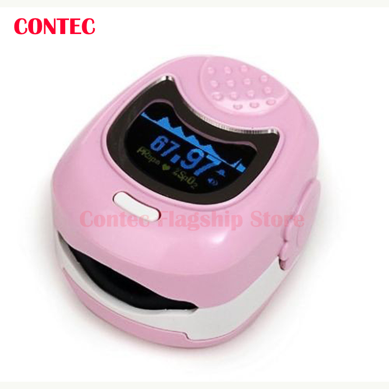 ФОТО CONTEC Finger Cute Pulse Oximeter Oxygen SPO2 Monitor for Children Kids CMS50QB