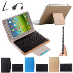 Беспроводная Bluetooth клавиатура чехол для intego PX-1015 10,1 дюймовый планшет клавиатура языковая раскладка Настройка стилус + OTG кабель