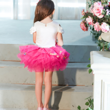 Buenos Ninos Little Girl's Tutu Skirts Princess Party Ballet Dance Skirt With Pom Pom Puff Balls 8-Layers For 1-6T Kids buenos ninos красная роза s