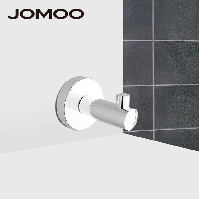 JOMOO Robe Hook Wall Hook Nail Coat Hook Zinc Alloy Chrome Kitchen Key  Holder Wall Mounted
