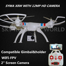 SYMA X8W 2.4G 4CH RC Quadcopter Drone With 1080P 12MP HD Camera Gimbal And Camera Holder better than X8G Have WIFI FPV