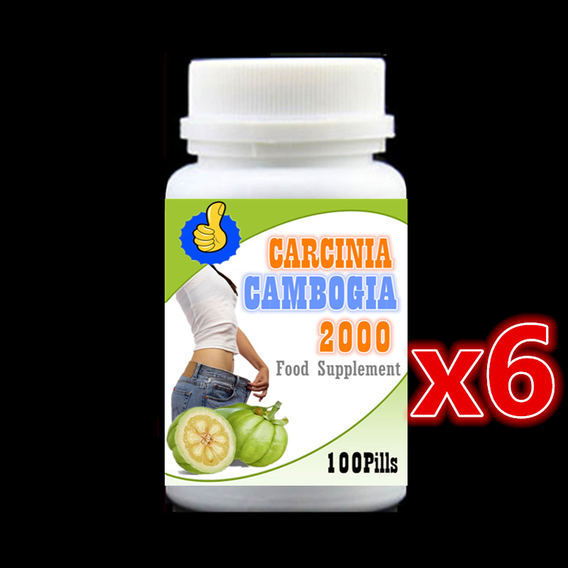 6 bottle 600pcs Pure Garcinia Cambogia 2000 Extracts with HCA For All Lose weight Loss Do Not Bounce Fat Burning 100% Safe garcinia cambogia extract powder 99% 1000g weight loss relieve pressure get a better sleep hot sale free shipping