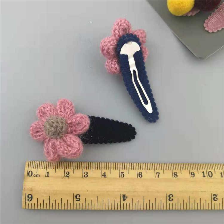 Каваи бархатная Корона принцесса заколка для волос для девочек детские заколки для волос Бобби шпильки заколка аксессуары для детей цветок заколка для волос