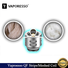 9pcs/lot Original Vaporesso QF Coil Vaporesso SKRR Replacement Coil 0.15ohm QF Strips Coil 0.2ohm QF Meshed Coil E-Cig Vaporizer(China)