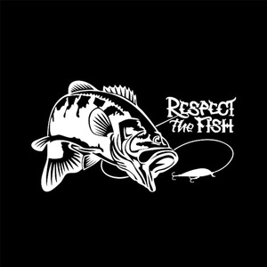 Image 2 - Respect the Fish The Fishing Boat Hunting Vinyl Car Sticker Vinyl Decal Stickers Car Stickers Accessories