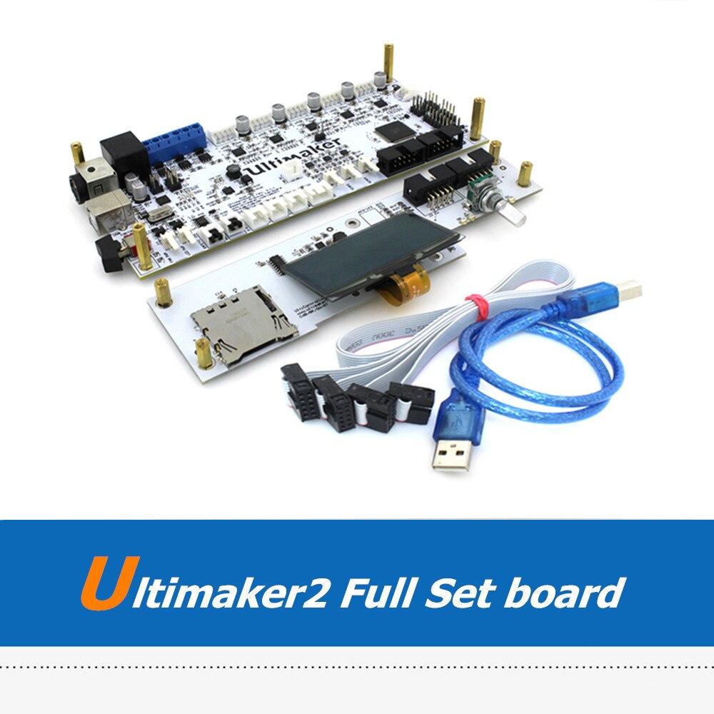 UM2 3D Printer Parts Full Set Ultimaker2 V2.1.4 Mother Board with OLED Screen Controller Panel Kit For Ultimaker um2 3d printer parts full set ultimaker2 mother board
