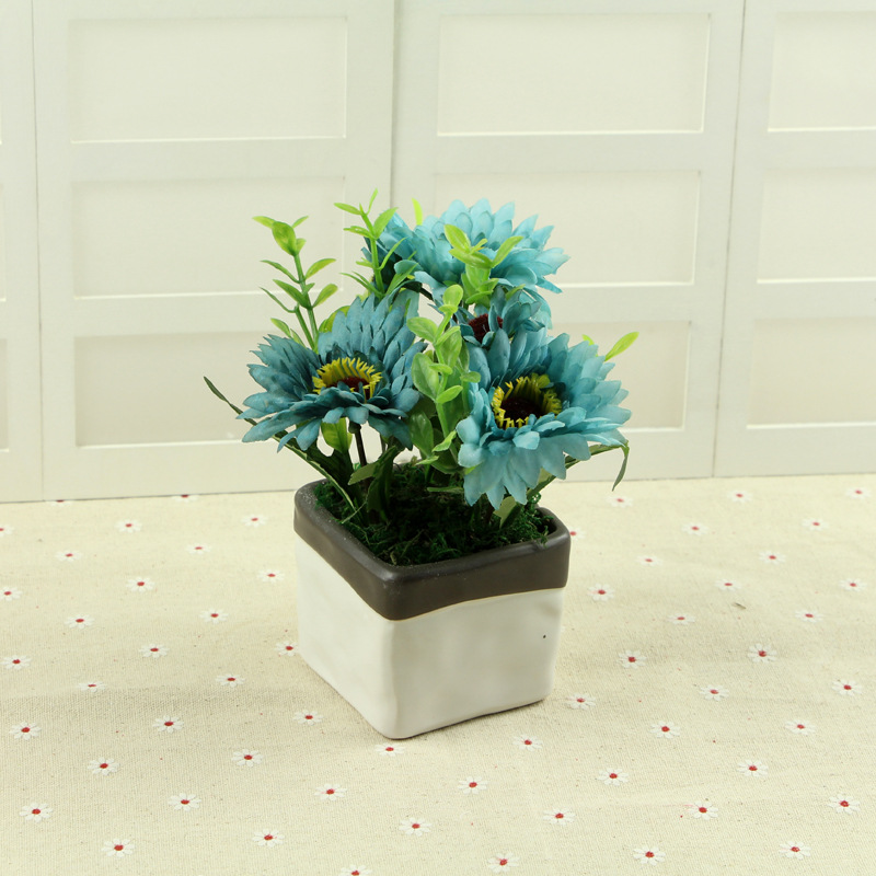 2017 Mini 2 Pcs Fashion Blue Carnation Artificial Flower Plant Rhaliexpress: Artificial Flowers For Home Decor Indoor At Home Improvement Advice