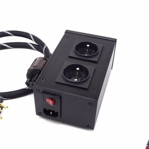 Image 3 - AC8.8 2500W 10A European filter power outlet Advanced Audio Power Purifier Filter AC Power Socket for EU AC Electrical Plug