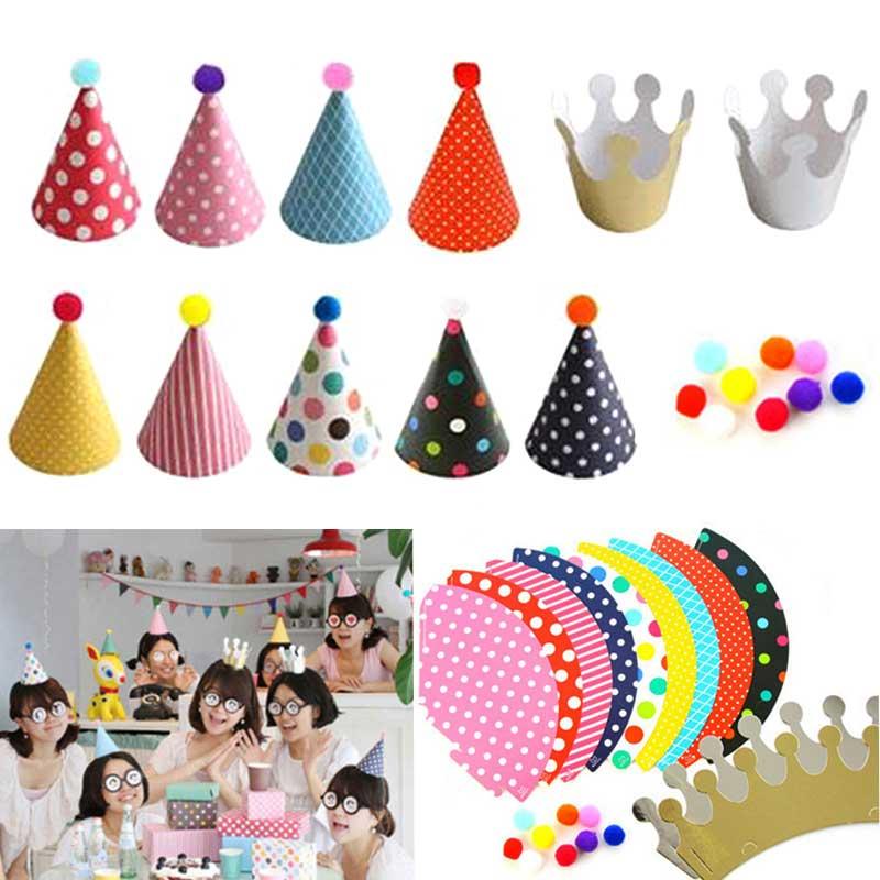 11pcs Set Party Celebration Cute Party Hats Birthday Hat Festive Party Photograph Items Decorations For