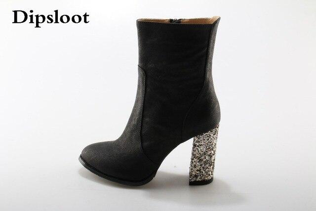 Femmes Dames Femelle Suede Faux Bottes Cheville Haute Talons Martin Pointu Chaussures Noir Y4MbVUJV