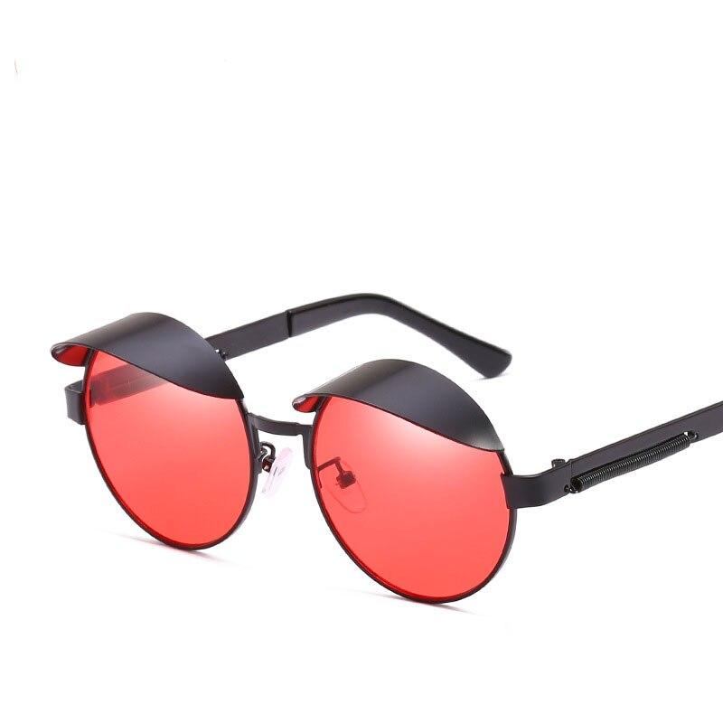 Marca 2018 Retro Vintage Steampunk hombre mujer gafas de sol primavera piernas, gafas de sol para hombres/mujeres Unisex gafas Accesorios