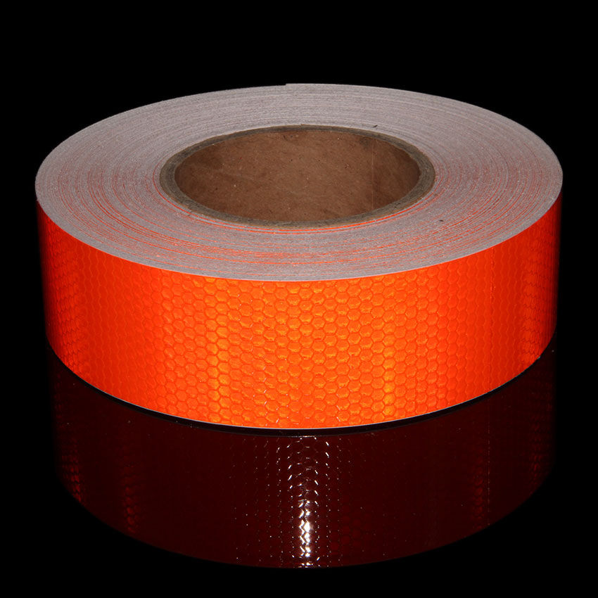 50M Motorcycle Reflective Tape Safety Warning Reflective Adhesive Tape Ribbon Use On Car Trailer Self-Adhesive Film Sticker Bike multi color 1 roll 20m marking tape 100mm adhesive tape warning marker pvc tape