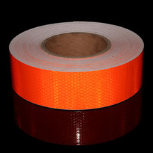 5cm*50m Reflective Tape Safety Warning Conspicuity Film Adhesive tape 2 width red white yellow blue green lime