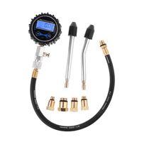 Kit testador de compressão digital medidor pressão tester motor automático gasolina gás cilindro do motor da motocicleta medidor pressão withadapter|Medidores de pressão| |  -