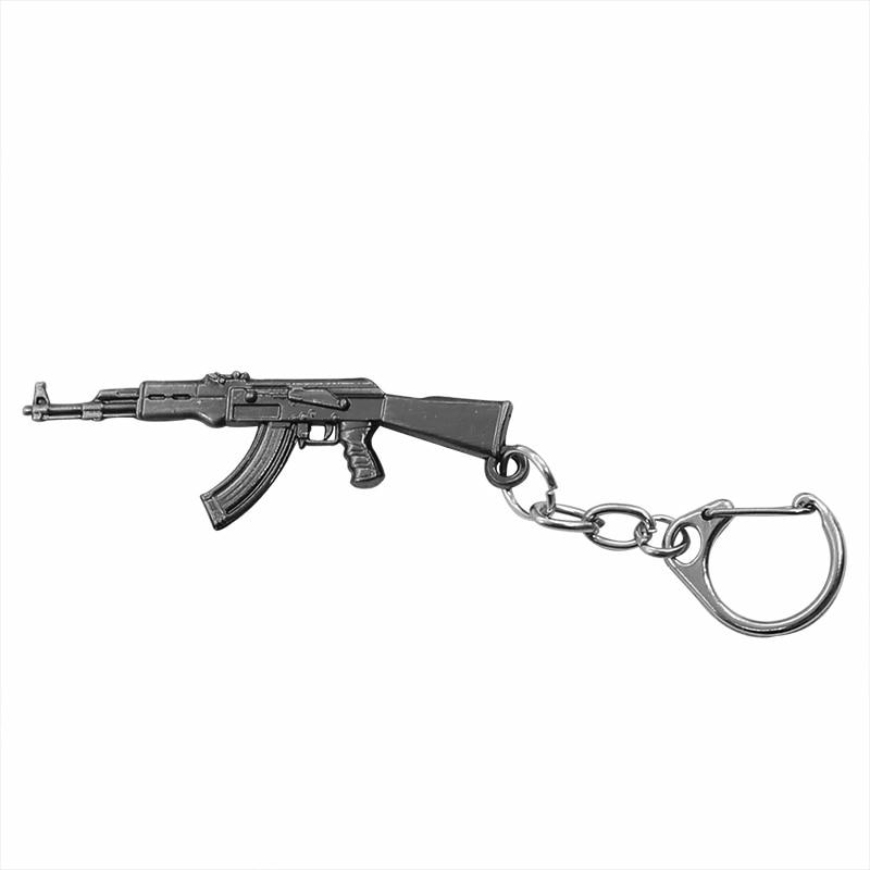 العصرية AK-47 بندقية مسدس المفاتيح m60 الصحراء النسر اليسار عجلة بندقية كيرينغ الأسلحة الصغيرة بندقية نموذج المعادن مفتاح سلسلة مجوهرات هبوط السفينة
