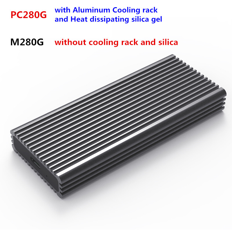 Portable SSD Aluminum  Enclosure Support PCIe NVME/NGFF Case M.2 M Key/B&M Key SSD Type C 3.1 Solid Hard Drive Enclosure