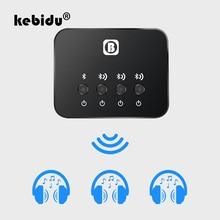Kebidu миниатюрный оптический Bluetooth передатчик Aptx от 1 до 3, несколько пар для ТВ, двухканальный беспроводной музыкальный аудио адаптер для динамика