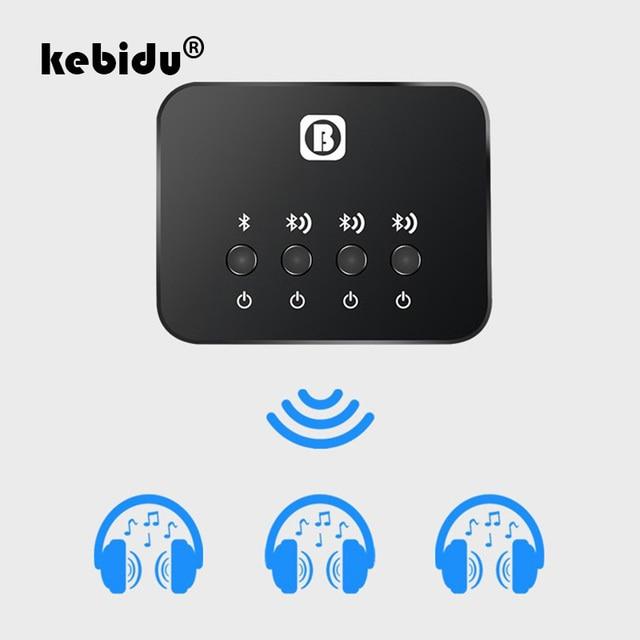Kebiduミニ光学bluetoothトランスミッタaptx 1に3マルチペアテレビデュアルリンクワイヤレス音楽オーディオアダプタスピーカー