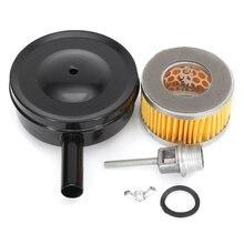 4 дюйма Dia компрессор воздухозаборный фильтр MPT1/2 ''w/бумажный картридж металлический глушитель