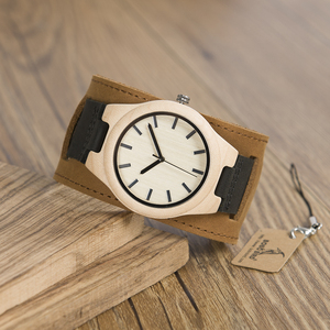 Image 2 - BOBO BIRD Mens Top Brand Mapel Wood Watches Chicago Bracelets Soft Leather Bands Straps With Gift Box Drop Shipping Relog
