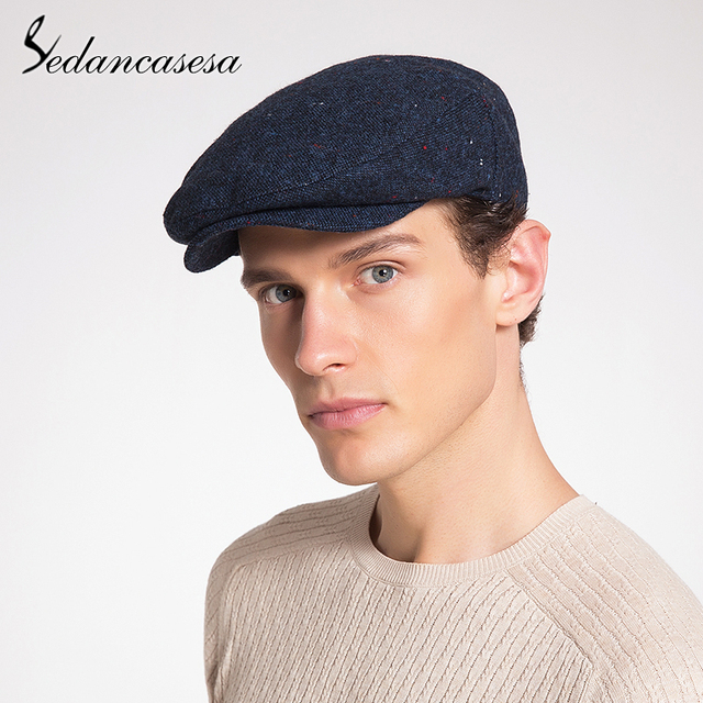 Sedancasesa nueva moda de invierno cálido nuevo lindo cachorro de hombre  sombreros gorro para hombre invierno Visor vendedor gorras de lana Vintage  sombrero ... 081e986e1fba