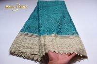 Latest African Cord Lace Fabric High Quality Wine Color Guipure Cord Lace With Beads Wholesale Nigerian