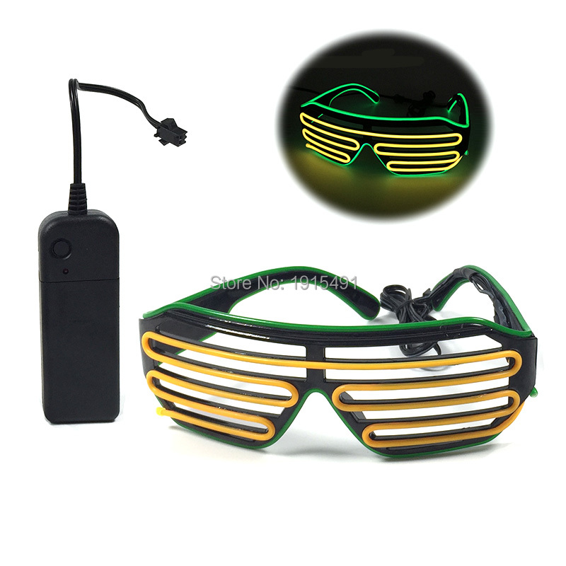 High Grade Easter Day Decor EL Cold Light Shutter Glasses Novelty Lighting LED Sparkling Glasses For Cosplay, Role Play Party