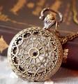 Оптовая продажа покупателя цена высокое качество мода леди девушка женщина бронза церковь крыши антикварные карманные часы ожерелье цепь