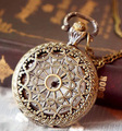 wholesale buyer price good quality fashion lady girl woman bronze church roof antique pocket watch necklace chain