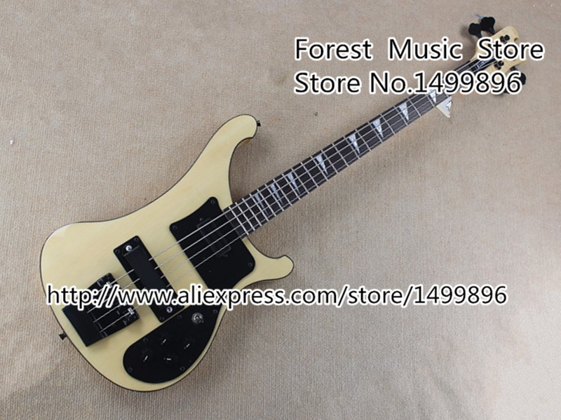 Wholesale & Retail High-quality Milk Yellow Electric Bass Guitar 4 String R4003 Bass China Guitar In Stock Free Shipping free shipping wholesale high quality maestro dobro resonator purple electric guitar in stock 140401