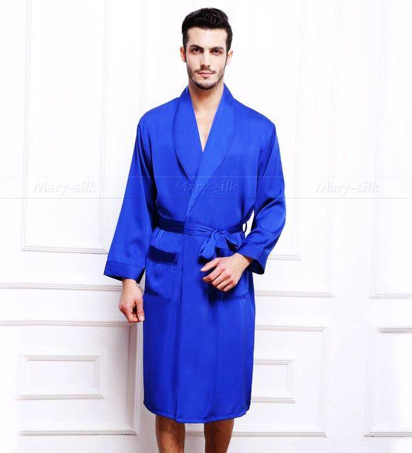 Mens De Satén de Seda Pijamas Pijama pijama PIJAMA ropa de Dormir Robe Robes Camisón Loungewear S ~ 3XL Plus _ _ Para El Invierno otoño Primavera