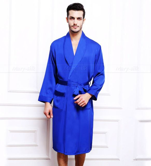 Mens Silk Satin Pajamas Pajama Pyjamas PJS Sleepwear Robe Robes Nightgown  Loungewear  S~3XL Plus __For Winter Autumn Spring