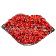D01015 mouth strass button rivca stass metal jewelry snap button for bracelet(China)